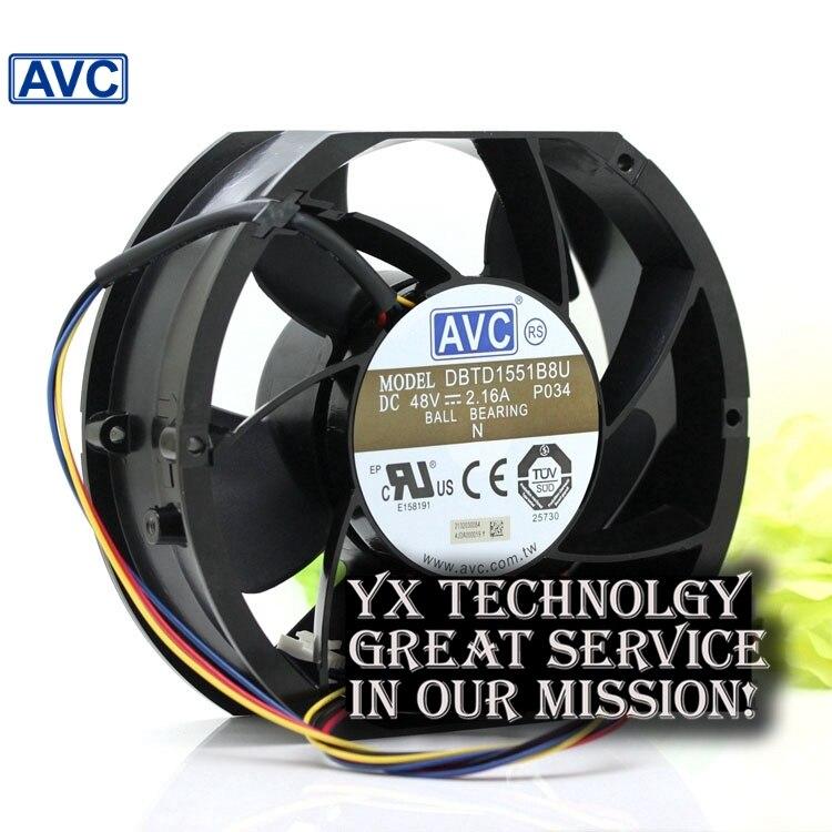 Здесь можно купить   AVC New DBTD1551B8U 48V 2.16A winds of four- speed fan pwm Компьютер & сеть