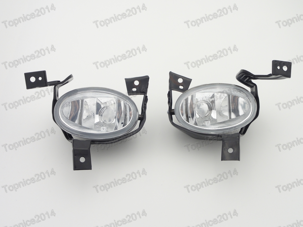 1Pair Clear Lens Fog Lights Lamps w/Brackets For Honda CRV 2010-2011 high quality fog lights lamps safety fog light fit for toyota yaris 2009 2010 2011 with clear lens pair set wiring kit