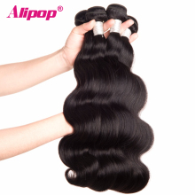 [ALIPOP] Peruvian Body Wave Bundles Remy Human Hair Bundles 1PC 10″-28″ Hair Extensions Double Weft Hair Weave Can Be Dyed