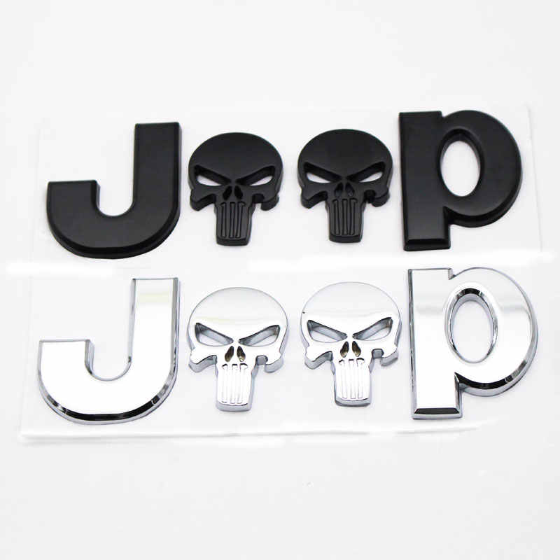 3D Prémio De Metal para JEEP Fender Lado Do Carro Traseiro Trunk Emblema Do Emblema Decalques Da Etiqueta para a Chrysler JEEP Grand Cherokee Wrangler compa