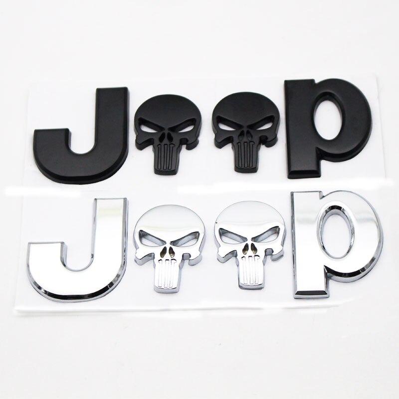 3D métal pour JEEP Premium voiture côté garde-boue arrière coffre emblème Badge autocollant autocollants pour Chrysler JEEP Grand Cherokee Wrangler Compa