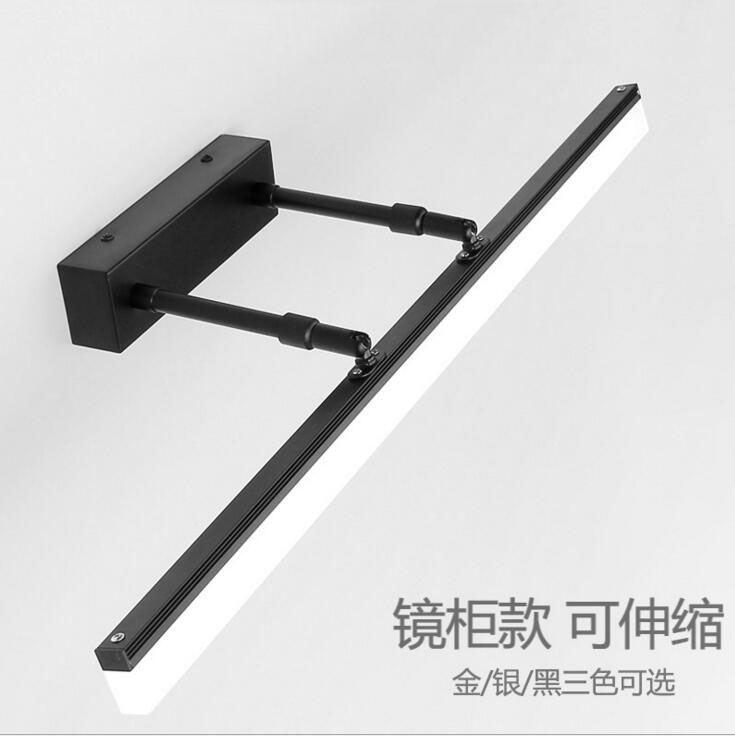 LMirror cabinet light led bathroom dressing room mirror headlights simple modern waterproof anti-fog retractable mirror lamps 40cm 12w acryl aluminum led wall lamp mirror light for bathroom aisle living room waterproof anti fog mirror lamps 2131
