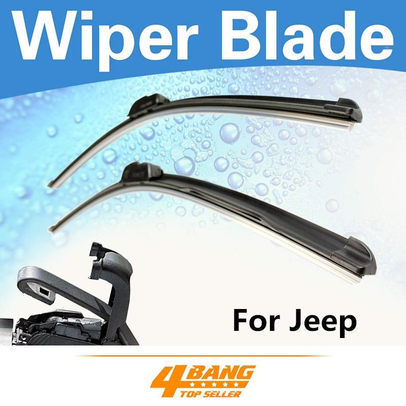 2PCS 19 19 Car Styling Windshield Bracketless Wiper Blades Frameless Rubber For font b Jeep b