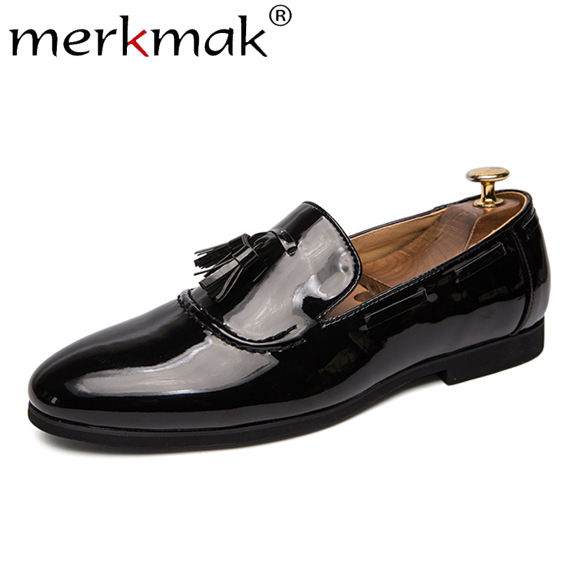 Merkmak Men Tassel Loafers Summer Casual Leather Driving Shoes Men's Solid Anti-skid Slip-On Breathable Male Footwear Soft Flats