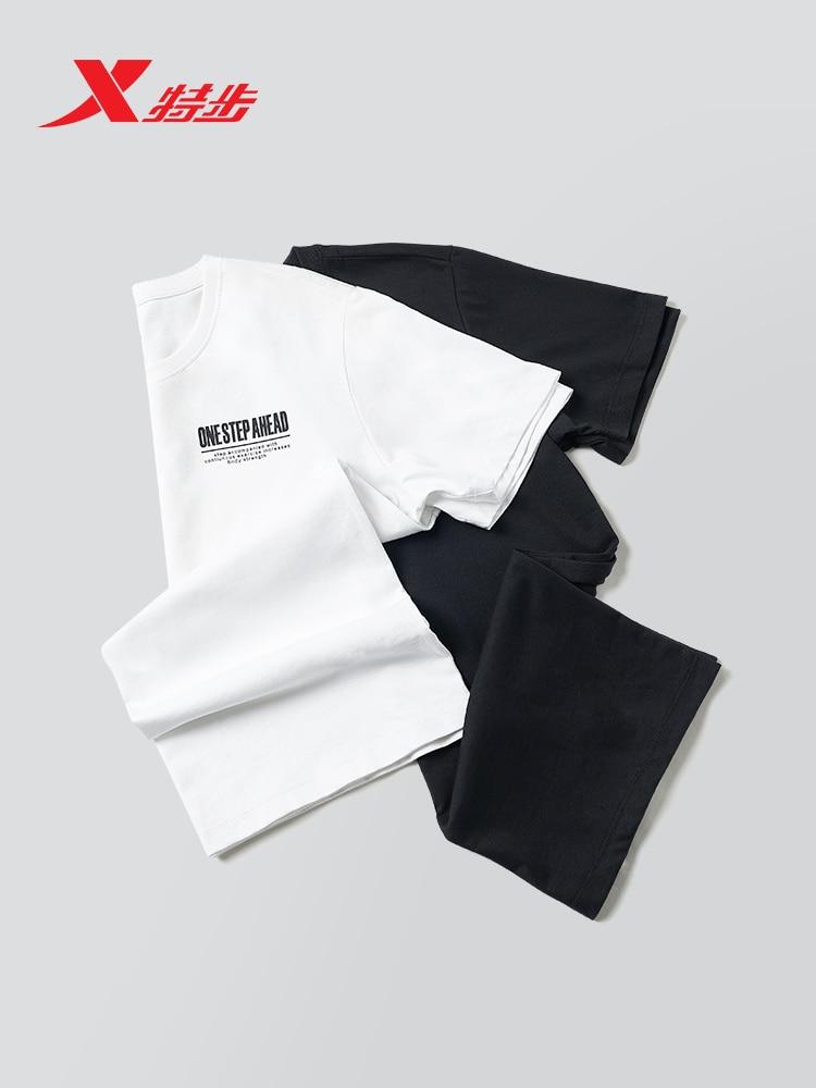 881229019203 xtep Short Sleeve Men 2019 New T-Shirt Running Sports Top Round Neck