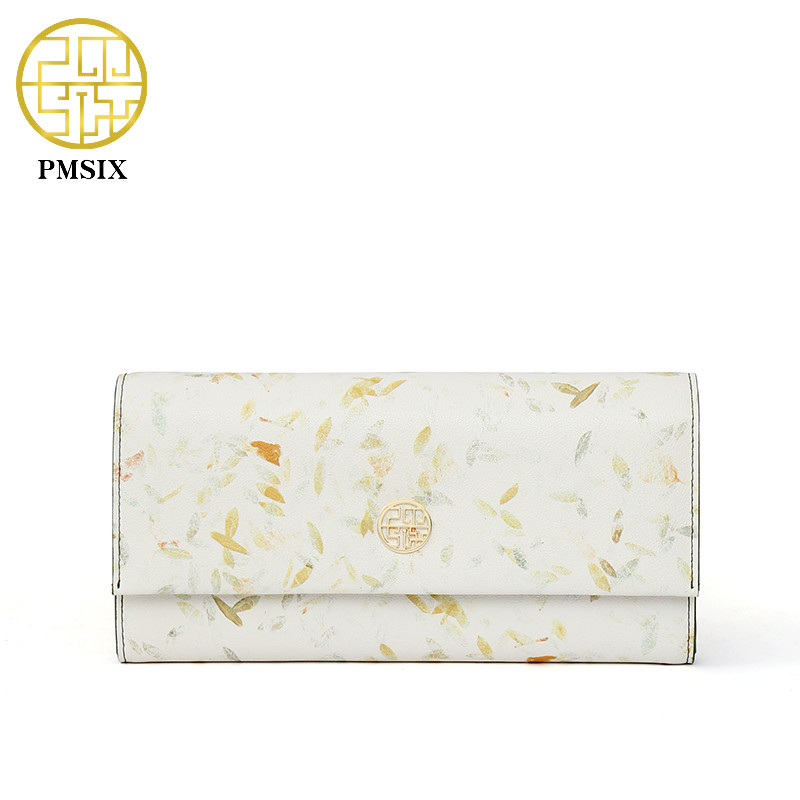 PMSIX Luxury Brand 2018 New Women Wallets Split Leather Wallet Fresh Hasp Lady Wallet Colorful Design Clutch Wallet Female Purse pmsix 2018 new autumn
