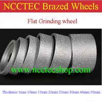3 Diamond Vacuum Brazed Wheels 75mm Granite FLAT Grinding Wheel Kitchen Countertop Thickness 5 10