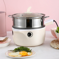 Multi Cookers Electric Skillet Hot Pot Noodle Rice Cooker Stewing Steamed Fried Electric Cooking Pot 220V Single/Double Layer