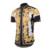 2017 verão nova Europa tide marca versae camisas Golden Palace Homens moda casual curto-de mangas compridas camisa da cópia da flor vestido camisas