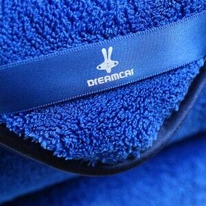 Image 5 - Serviettes en microfibre pour voiture, 1 pièce, chiffon épais en peluche pour nettoyage et séchage
