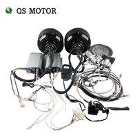QS В 72 в 90KPH электрический автомобиль концентратор мотор Конверсионные Комплекты двойной 3000 Вт в ступице колеса комплекты для мотора для авт