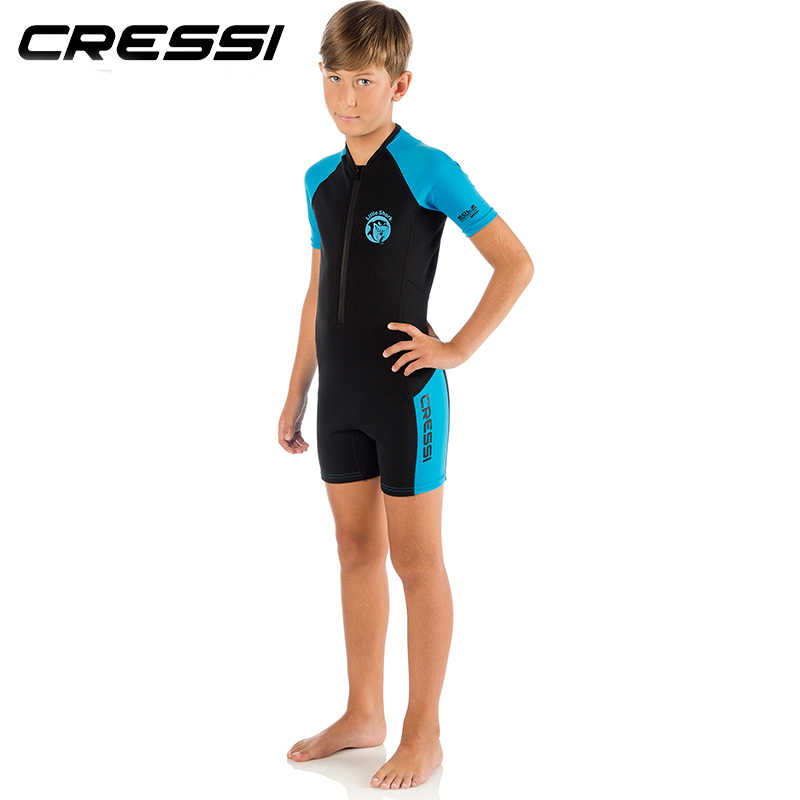 b0ba65e4a6828 ... Cressi LITTLE SHARK 2mm Shorty Wetsuit Children Boys Girls Keep Warm  Neoprene Snorkeling Swimming Suit for ...