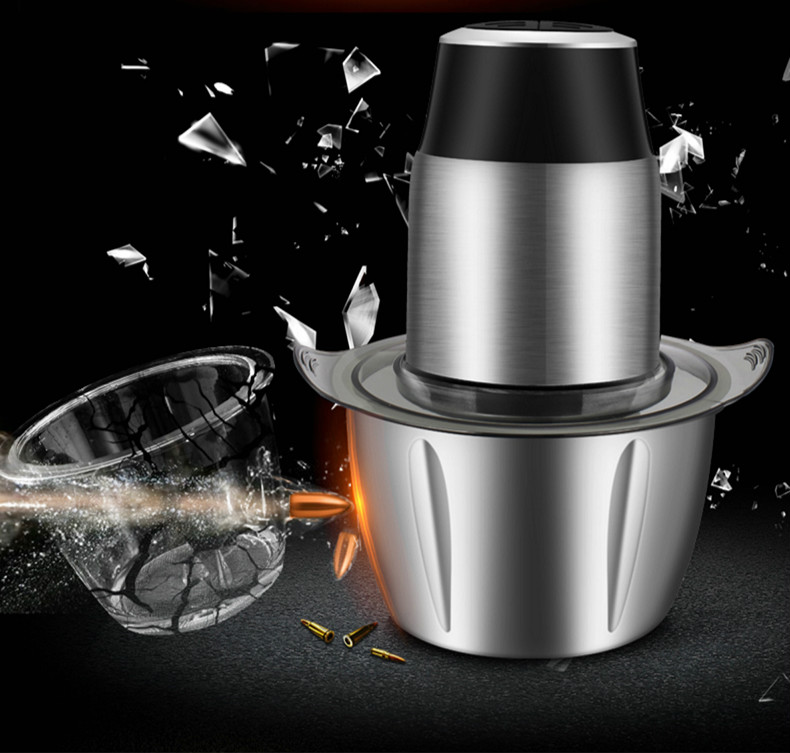 Meat Grinders USES electric stainless steel to stir small, 1.2-liter, small-capacity chili machines NEW цена