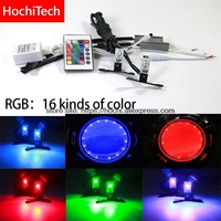 High Quality Multi color RGB 360 Degree Demon LED Halo Rings Devil Eye for All Car Projector Headlight remote control