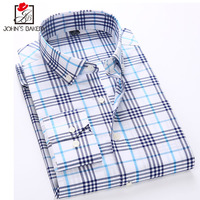 New Fashion Brand Men Shirt Business Lattice Dress Shirt Short Sleeve Slim Fit Camisa Masculina Casual
