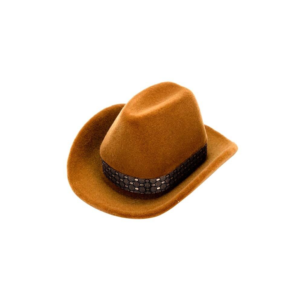 e49d034f415 2019 Creative Design Cowboy Hat Shape Rings Boxes Velvet Jewelry ...