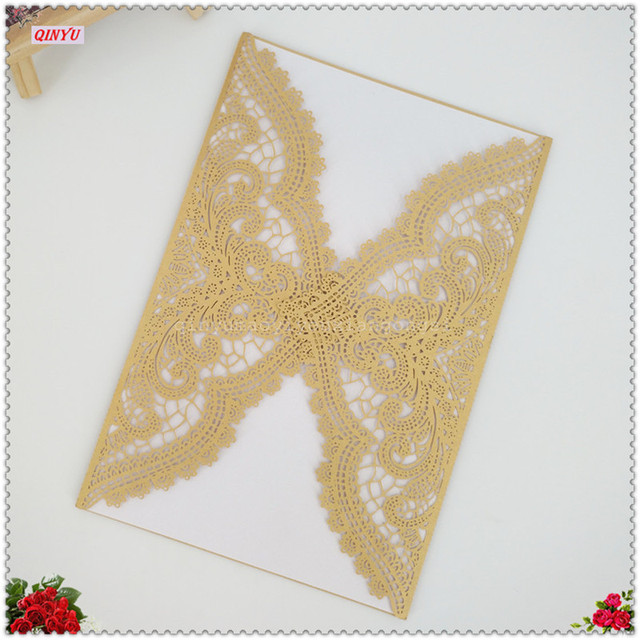 30pcs Elegant Pattern Vintage Design Laser Cut Wedding Invitations Card Blank Paper Invitation Event Supplies
