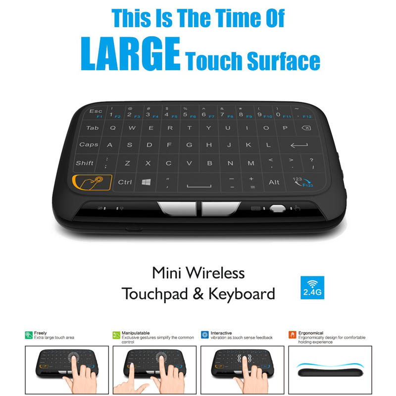 OTHA For Smart TV PS3 TV Box PC Android Windows Mac H18 Wireless Air Mouse Full Touchpad Mini Keyboard 2.4GHz Gaming Touch Pad