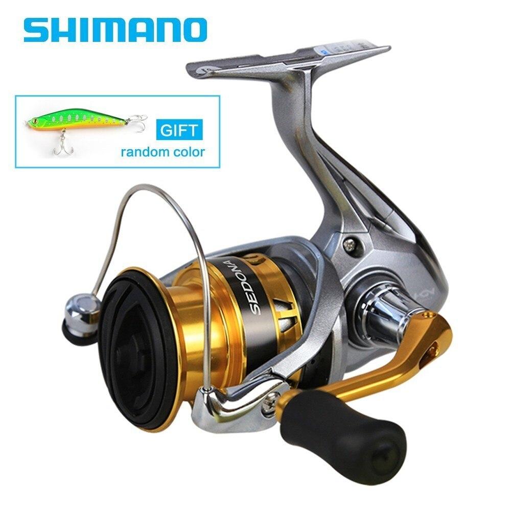Shimano Original SEDONA 1000 2000HGS 2500 2500 s 3000 4000 C5000XG 6000 Spinning Angeln Reel Tiefe Tasse 4BB Hagane Getriebe saltewater
