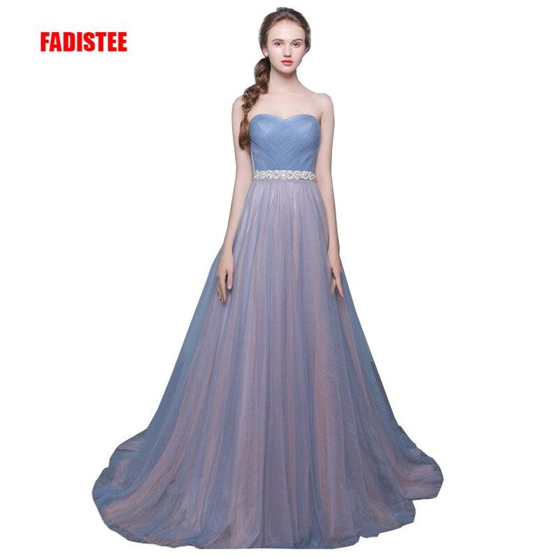 FADISTEE New arrival elegant party   evening     dresses   Long   dress   Vestido de Festa A-line sashes long gown sweep train