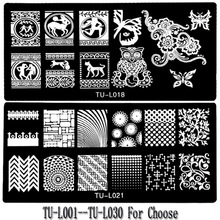 2017 New Stainless Steel Nail Art Stamping Plates Monster Lace Blue Film Manicure Polaco Printer Tool Templates Stamp Stencils