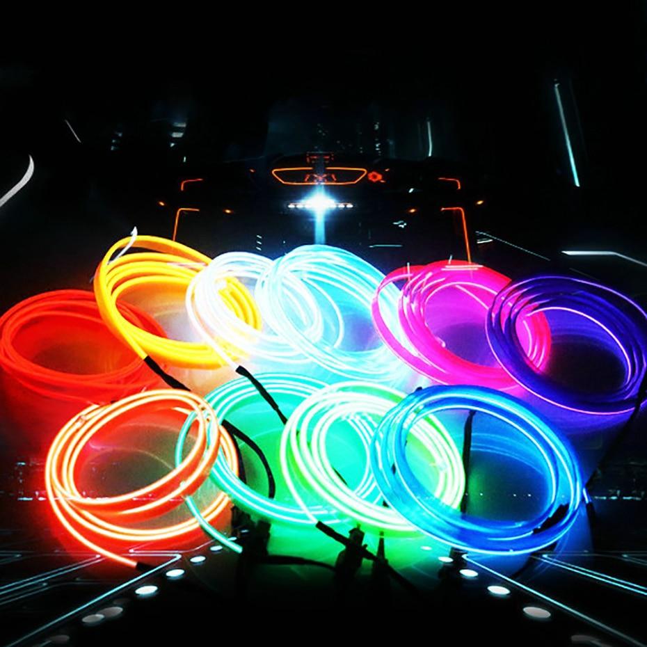 5M avtomobilska notranjost okrasno prelivanje prilagodljiv neonski - Dodatki za notranjost avtomobila - Fotografija 3