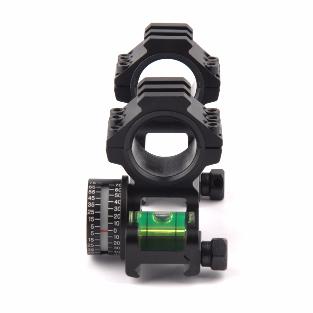 25.4/30mm Scope Ring Base Mount with Angle Indicator and Spirit Buble Level for Hunting Accessories