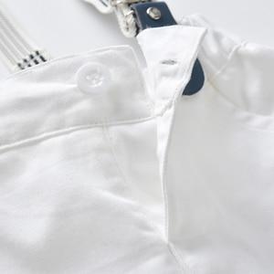 Image 5 - طفل صبي الملابس مجموعة البحرية نجوم قميص بلايز + السراويل البيضاء مع حزام مجموعة ملابس عصرية للطفل الصبي بدلة قصيرة