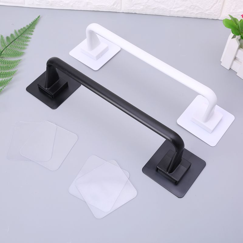 Self Adhesive Wall Mounted Bathroom Towel Bar Shelf Rack Holder Toilet Roll Paper Hanging Hanger S/L Size