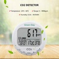 Yieryi AZ7788 CO2 детектор с тревогой диапазон измерения 0 ~ 9999ppmCO2 концентрации Температура влажность в 1 инструмент обнаружения