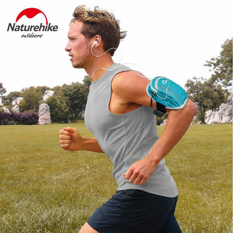 Naturehike phone arm bag men and women running sports arm Band mobile phone Outdoor Gear Gym Pounch Belt Cover NH15Y007-B