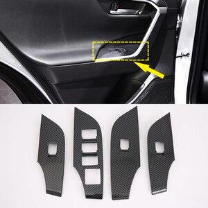 Image 1 - רק עבור יד שמאל כונן!!! Fit עבור טויוטה RAV4 XA50 2019 2020 אביזרי רכב פנים דלת חלון מעלית רגולטור כיסוי Trim