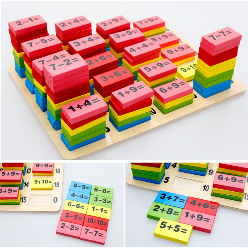 Educational Toys for Children Infant Math Game Sudoku Mathematics Domino Wooden Puzzle Toys Jigsaw Games Birthday Brain Gift 5