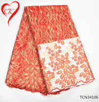 TCN341 KK African Net Lace Fabric Africa Women Dress Tulle Lace Fabric High Quality Nigerian French