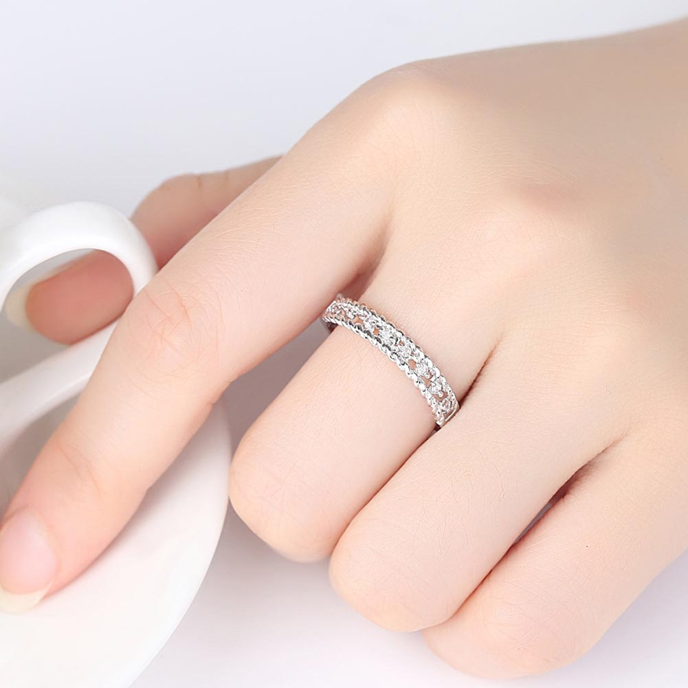 Lovers Couple Crystal Twist Rings Men Women Finger Ring Jewelry ...