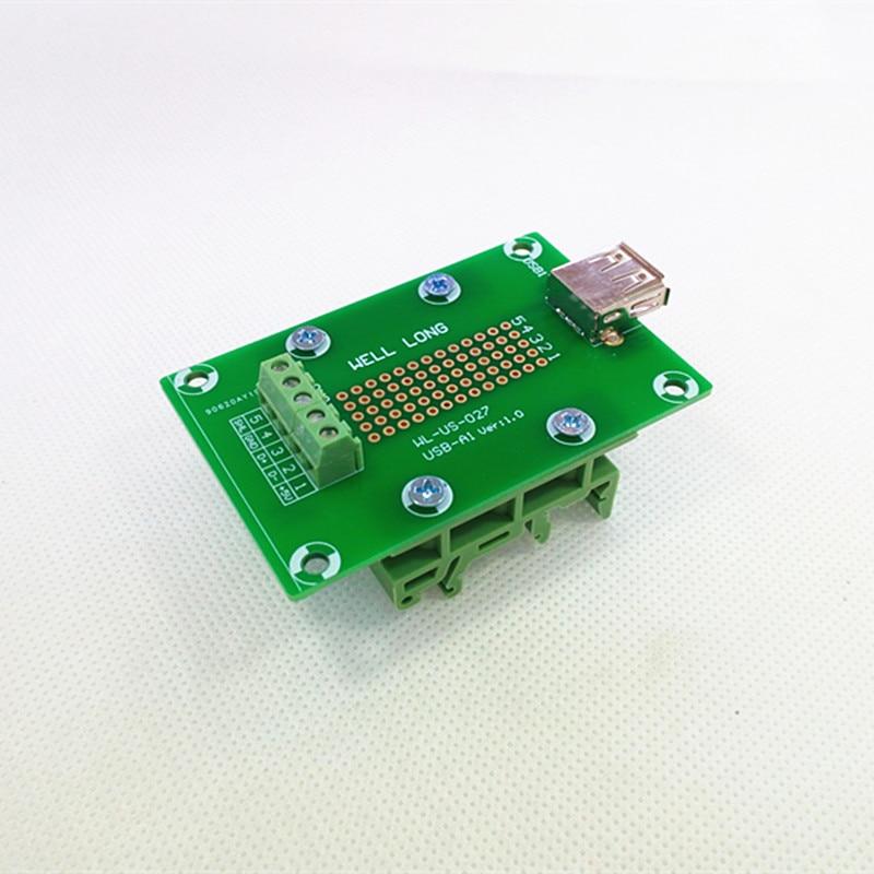 USB Type A Righ tangle Jack Module Board.