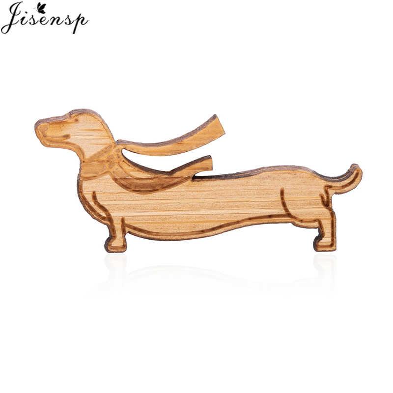 Jisensp Minúsculo Filhote de Cachorro Dachshund Broche Pin Esmalte Jaquetas Jeans Casaco Botão Pinos Emblema Do Pin Da Forma Animal Cão de Presente Da Jóia para crianças