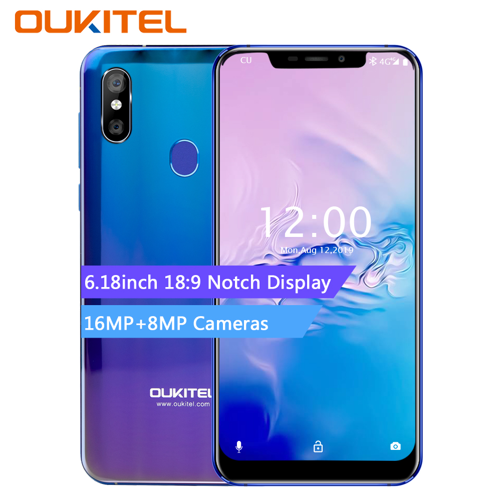 OUKITEL U23 6.18″ Notch Display Android 8.1 Mobile Phone Mtk6763t Helio P23 Octa Core 6g 64g Wireless Charge Face ID Smartphone