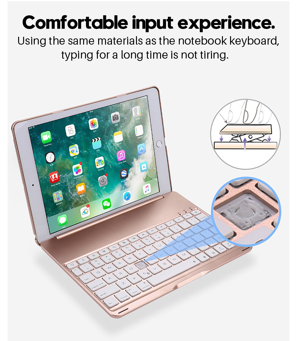 Case For Apple Ipad Air 1 2 9.7 With Bluetooth Keyboard Smart Cover For Ipad Pro 9.7 Hard Case 360 Full Protection Funda Coque