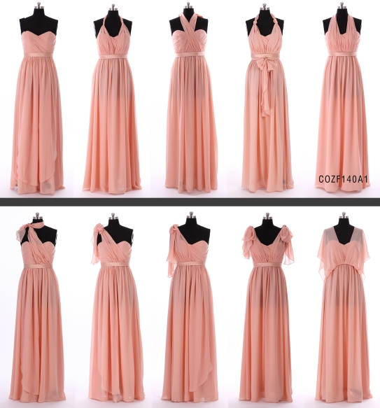 New Arrival Chiffon Spring Bridesmaid Dress