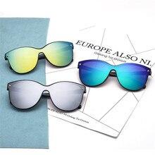 Women Round Mirror HD Sun Glasses