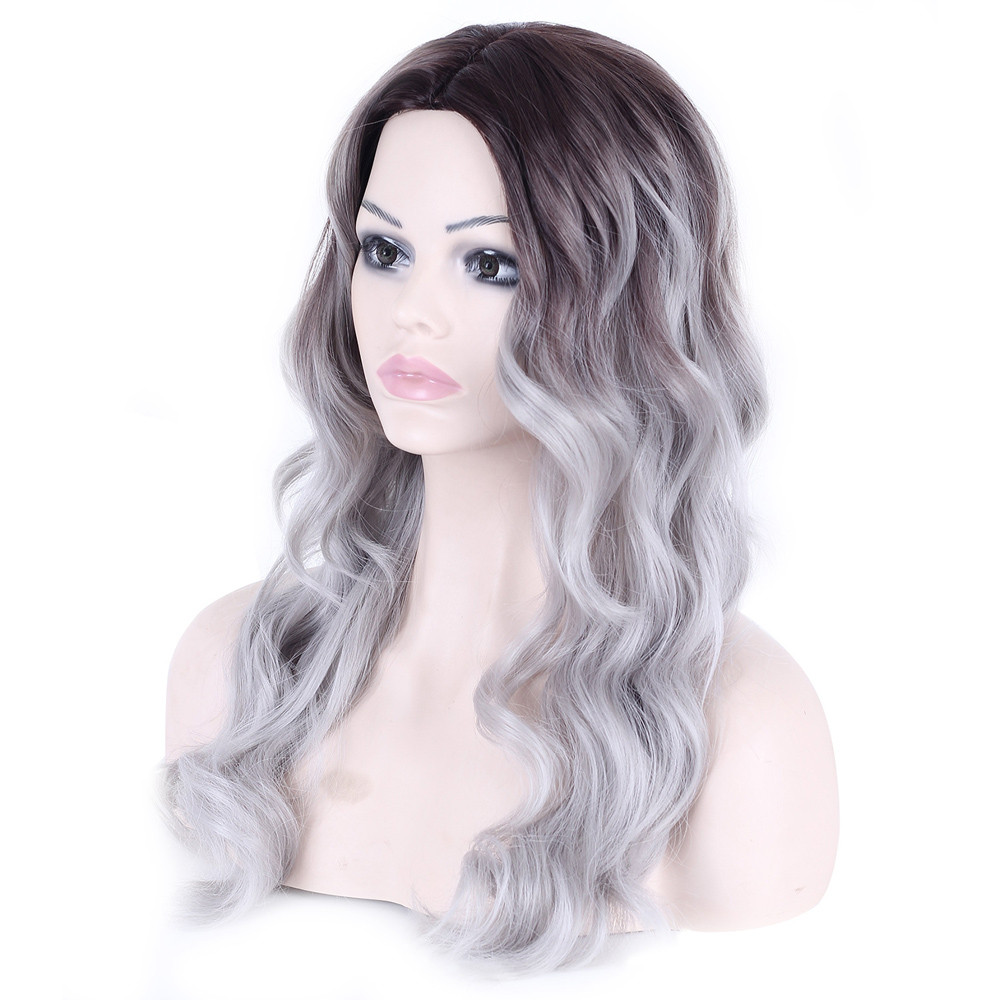 Curly Hair wigs front lace gray body wave wigs front lace Similar to full lace wigs human hair with baby hair 52323A