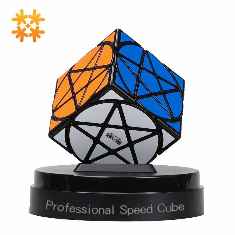 Cubo de pentculo Qiyi Mofangge, cubo estrella en forma de geometría, cubo estrella sin pegatina, Cubo de velocidad, cubo rompecabezas mágico, juguetes para niños, entretenimiento