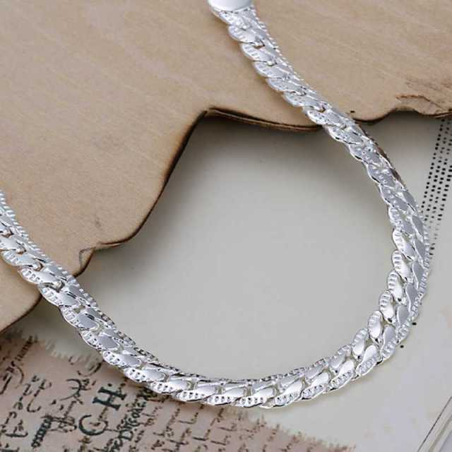 Kiteal silver/Gold color bracelet fashion jewelry 5MM 20cm snake Flat male chain Bracelet Armband/pulsera for men 925 stamp