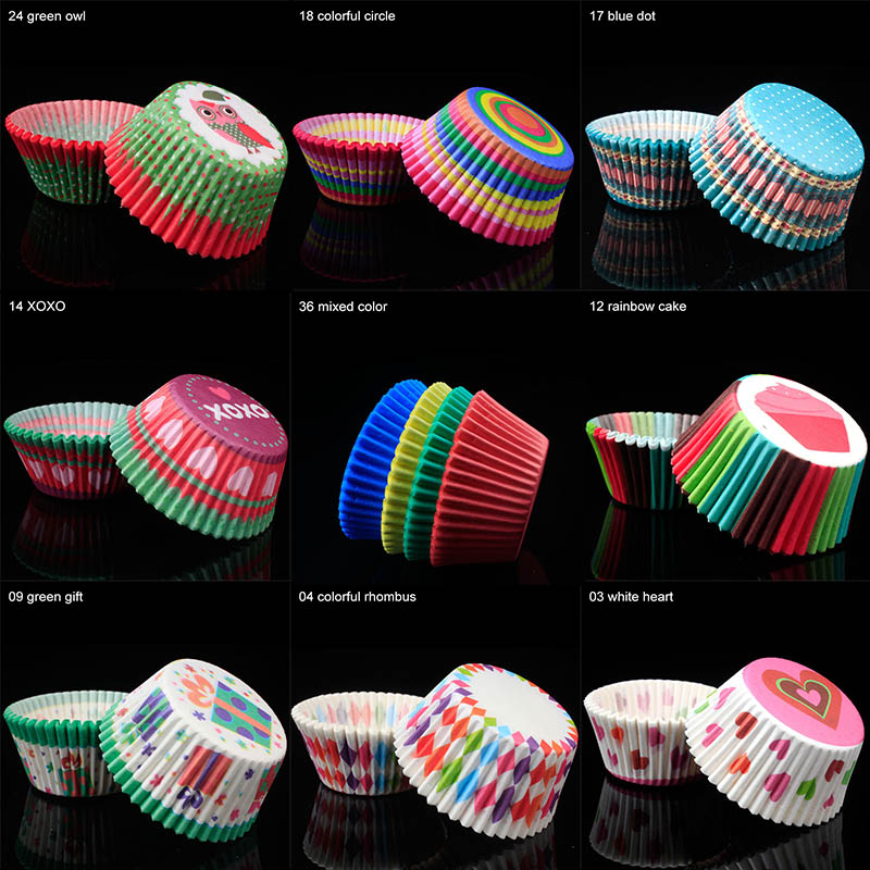 100Pcs/pack Cake Muffin Cupcake Paper Cups Cake box Cupcake Liner Kitchen Baking Accessories Cake Mold Small Muffin Boxes