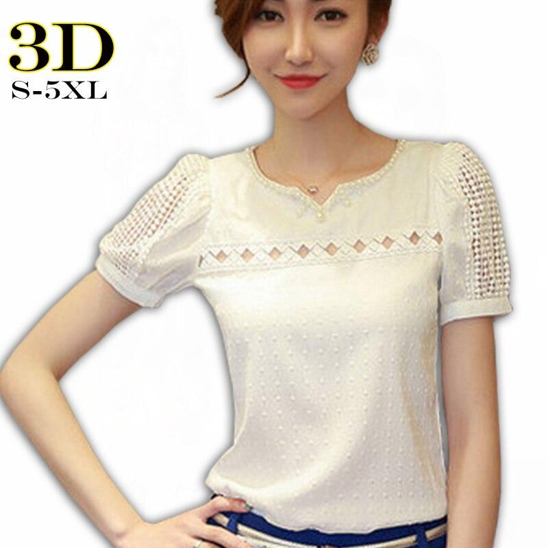 26f1dfb7dd2122 3D Blouse Shirt Women Short Sleeve Summer Korean Style 2018 Hot Sale Female  Tops Big Size