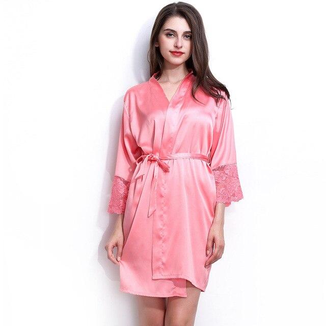 f697cbf8e2 women s autumn style sexy lace bathrobes high quality real silk robe  nightwear sleepwear temptation home wear