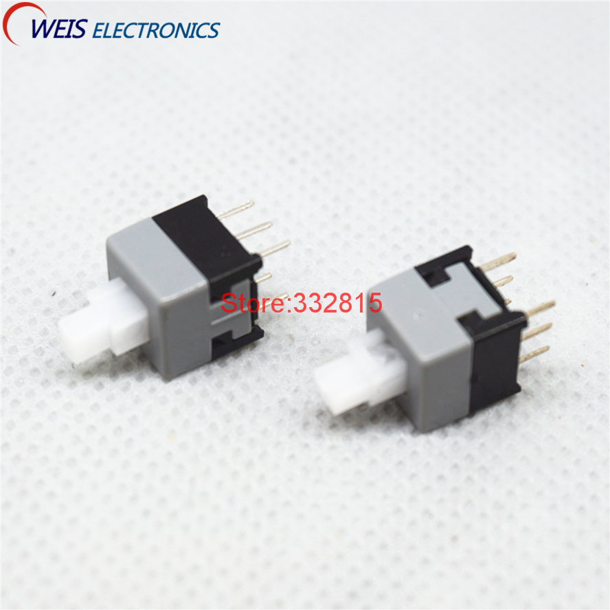 20pcs 8585mm Push Button Switch 85x85mm No Lock Free 5mm Lockless Switches 6pin Good Quality Shipping