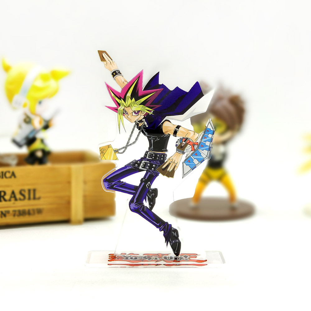 Love Thank You Yu-Gi-Oh! Mutou Yugi Dark Yami Acrylic Stand Figure Model Plate Holder Cake Topper Anime Japanese Cool