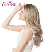 HANNE 브라운 애쉬 금발 혼합 색상 높은 온도 섬유 Daywear 파티 또는 코스프레 선염 물결 모양의
